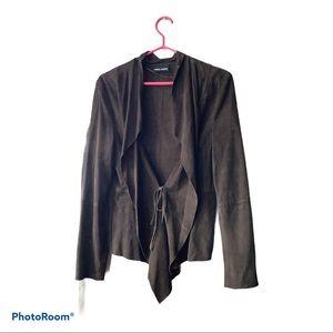 100% goatskin suede leather jacket never worn
